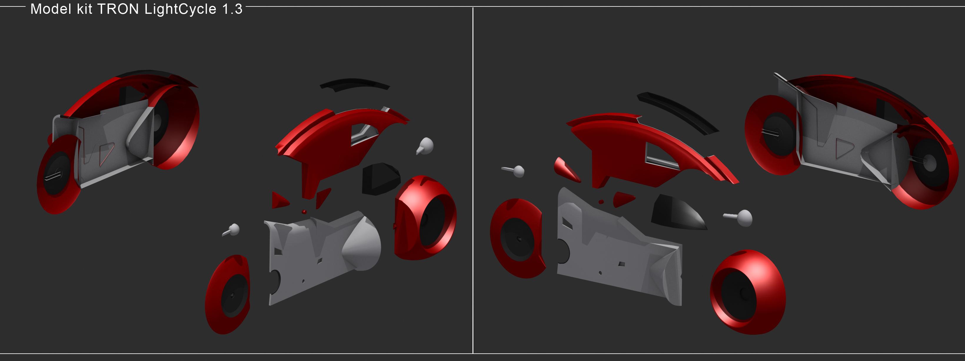 < model kit > TRON 1 LightCycle Render02