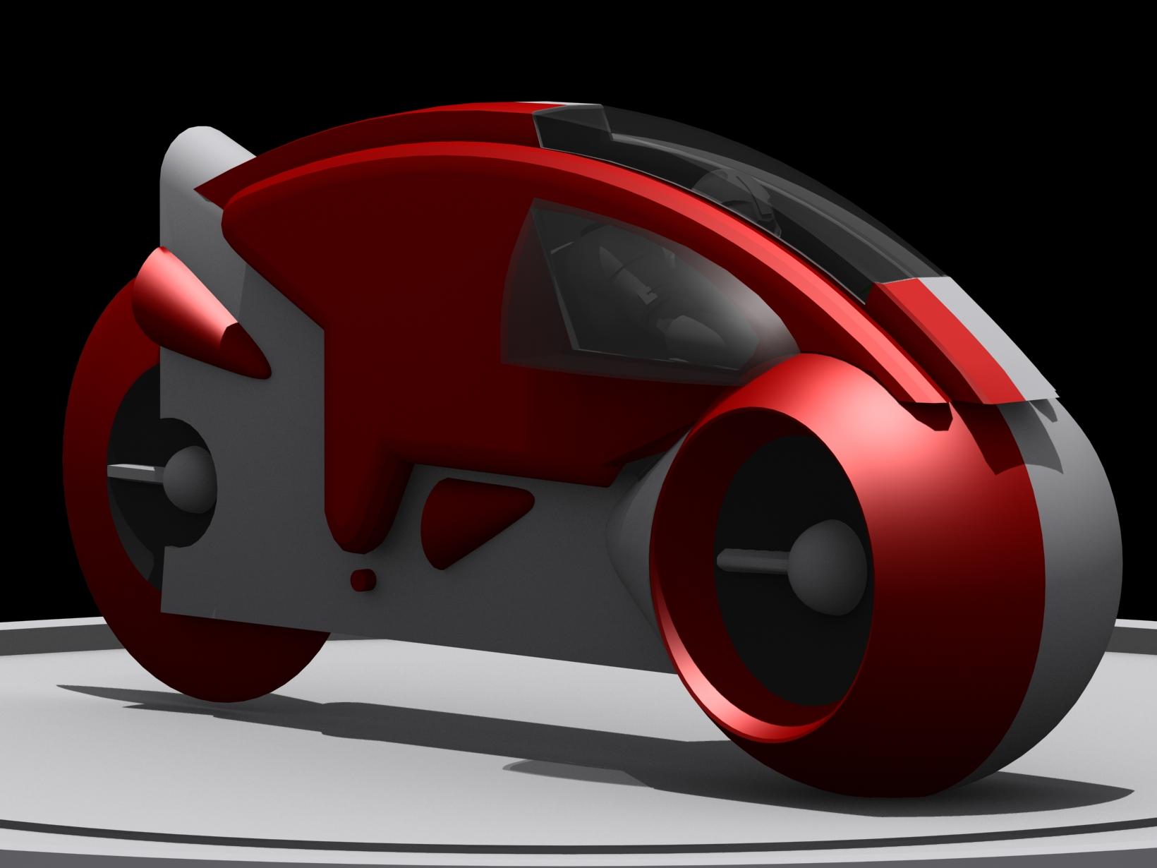 < model kit > TRON 1 LightCycle Render03