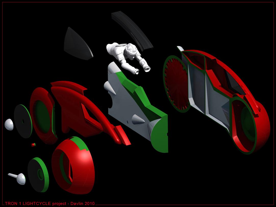 < model kit > TRON 1 LightCycle Render1202