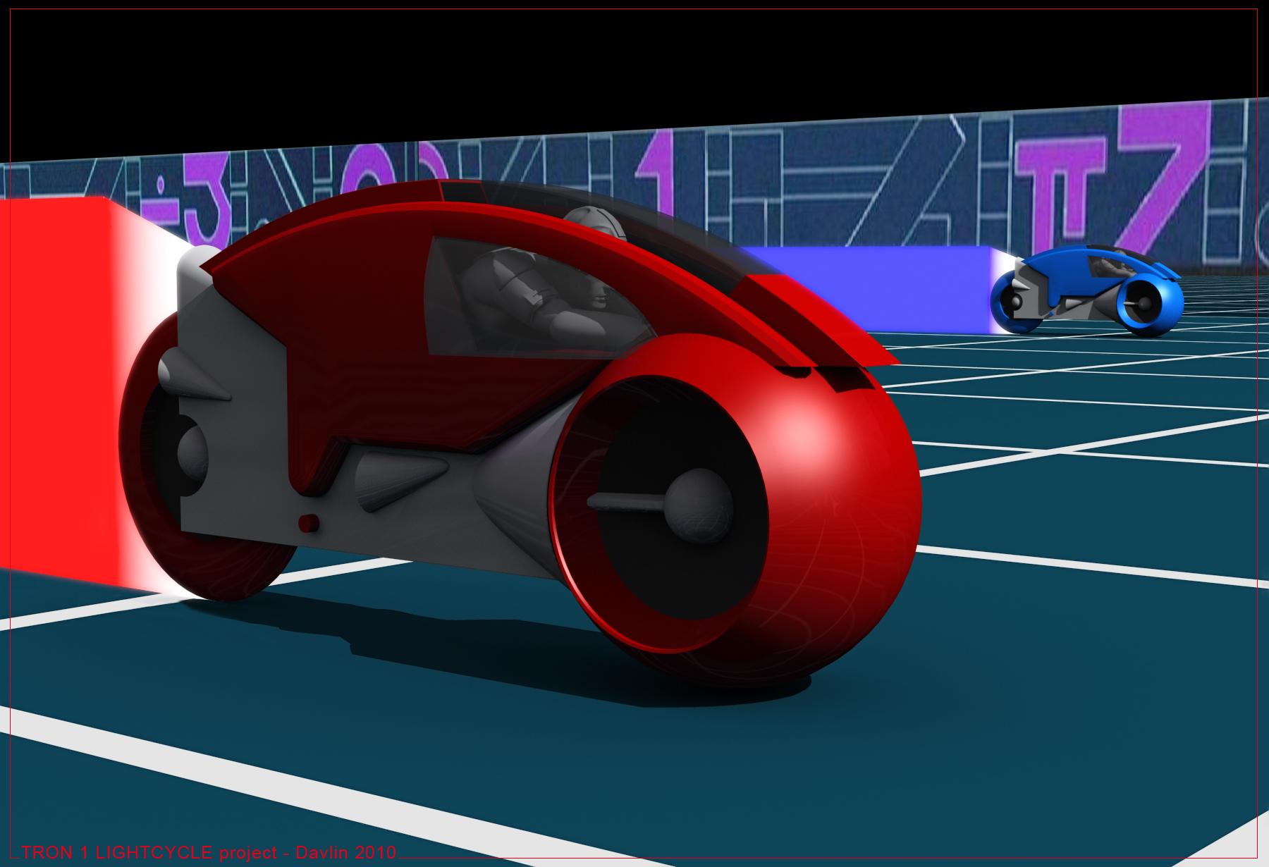 < model kit > TRON 1 LightCycle Render1203