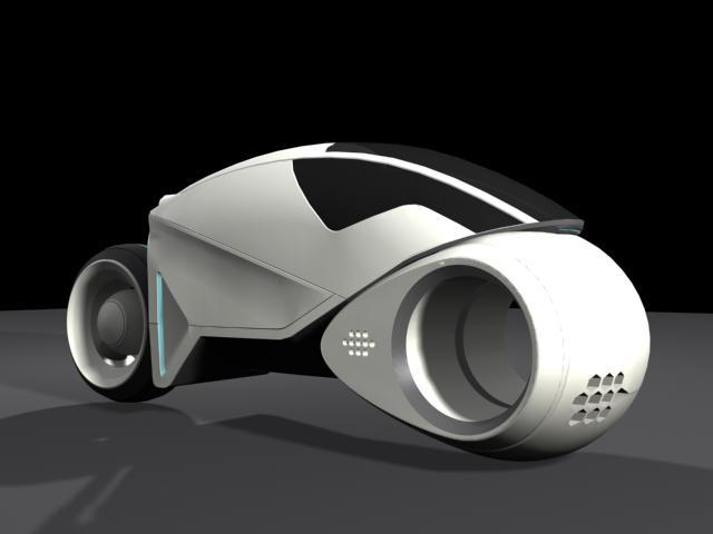 < model kit > TRON 1 LightCycle Render1_4