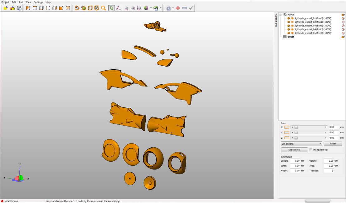 < model kit > TRON 1 LightCycle Render09